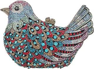 Fawziya Bird Clutch Bags For Womens Evening Bag Hard Case Rhinestone Clutch