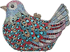 Fawziya Bird Clutch Bags For Womens Evening Bag Hard Case Rhinestone Clutch