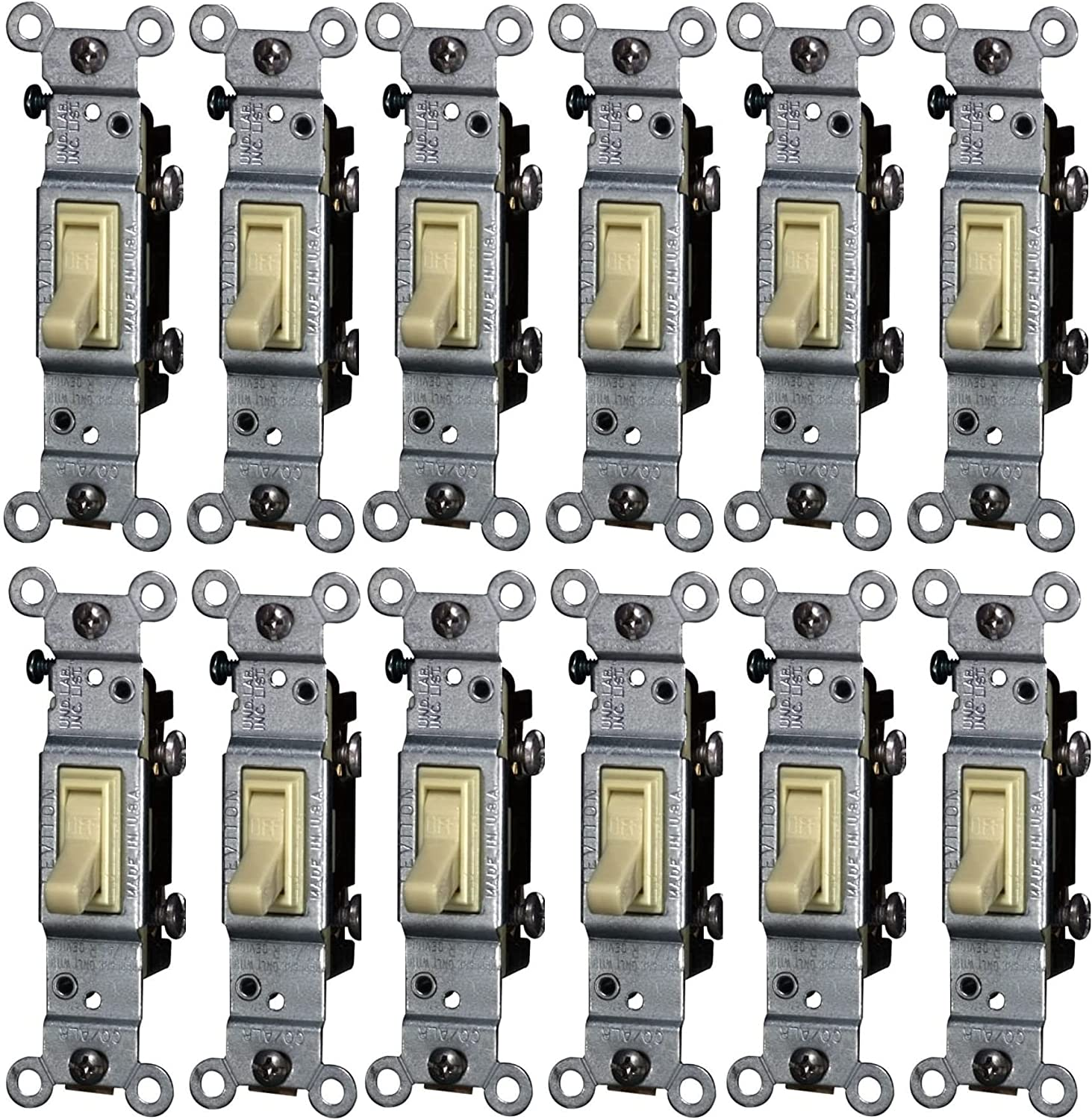 Leviton CO ALR Limited price sale 15 Attention brand amps pk Ivory Toggle 1 Switch