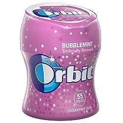 Orbit Bubblemint Sugarfree Gum, 55 piece bottle
