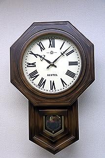 さんてる(Suntel) 掛け時計 ブラウン 480×295×120mm ボンボン時打ち 八角振り子時計(ローマ文字) SQ02-R