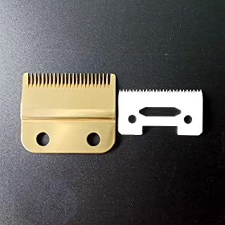 Professional Standard Stagger-Tooth 2 Hole Hair Clipper Trimmer Replacement Blade #2161,Detailer Blade Set,Ceramic Blade,Fits for the 5 Star Series Cordless Magic Clip,Including Screws,Gold
