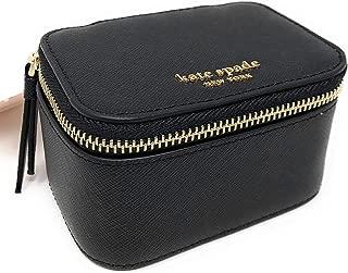 Jewelry Holder Travel Box Black Leather