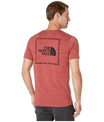 The North Face Short Sleeve Archived Tri-Blend Tee (Cardinal Red Heather) Men