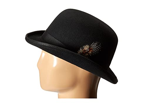 New Edwardian Style Men's Hats 1900-1920 Stacy Adams - Wool Derby Hat Black Caps $40.99 AT vintagedancer.com
