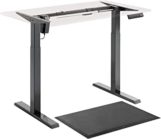 Electric Stand Up Desk Frame Single Motor Standing Desk Base Height Adjustable Table DIY Sit Stand Desk with Antifatigue M...