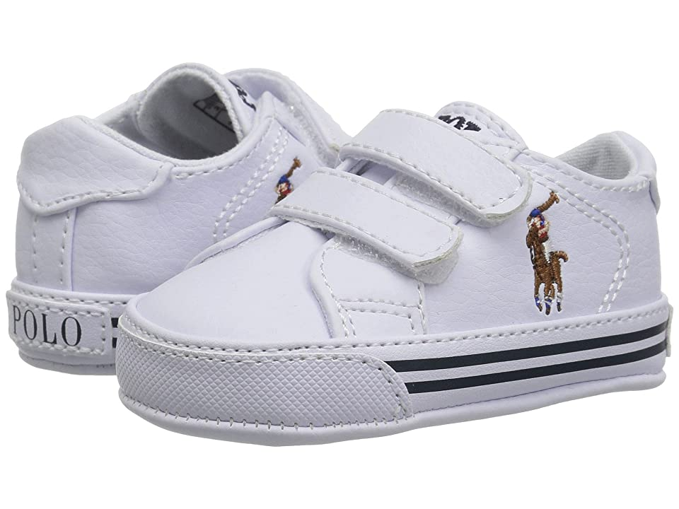 Polo Ralph Lauren Kids Easten EZ (Infant/Toddler) (White Tumbled/Multi Pony Player) Boy