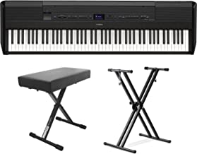 Yamaha P-515 88-Key Portable Digital Piano (with double braced stand and bench)