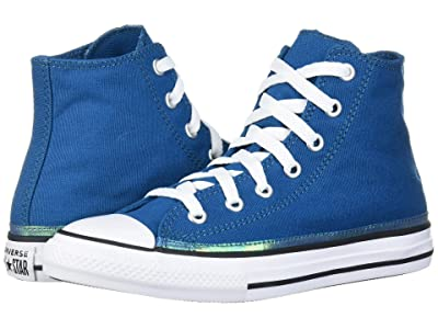 Converse Kids Chuck Taylor(r) All Star(r) Iridescent Hi (Little Kid) (Green Abyss/White/Black) Girls Shoes