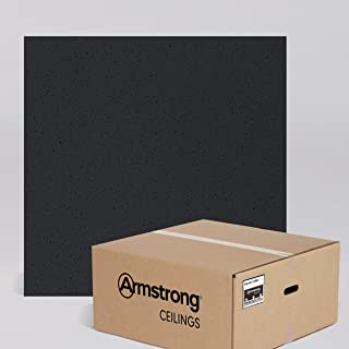 Armstrong Ceiling Tiles; 2x2 Ceiling Tiles – HUMIGUARD Plus Acoustic Ceilings for Suspended Ceiling Grid; Drop Ceiling Tiles Direct from the Manufacturer; FINE FISSURED Item 1728BL - 16 pc Layin Black