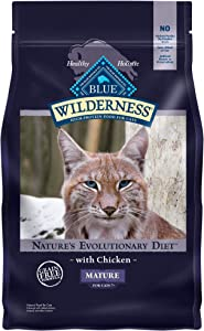 Blue Buffalo Wilderness High Protein, Natural Mature Dry Cat Food, Chicken