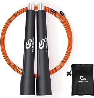 comprar comparacion Coresteady Cuerda de Velocidad Cuerda para Saltar Ajustable y con Auto Bloqueo - Ideal para Ejercicios para Quemar Grasa C...