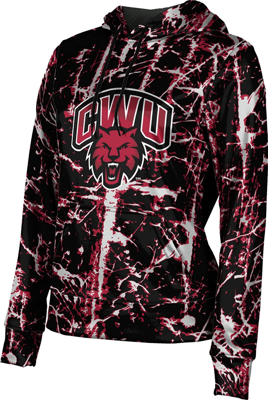 ProSphere Central Washington University Girls' Pullover Hoodie, School Spirit Sweatshirt (Distressed)
