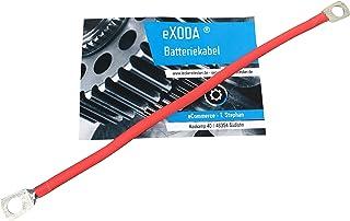 eXODA Cavo Batteria 50 mm/² Cavo Rame 5m Rosso H07V-K50 in Un Unico Pezzo