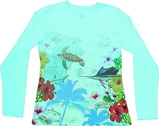 Guy Harvey Ladies Sailfish Map L/S Performance Shirt