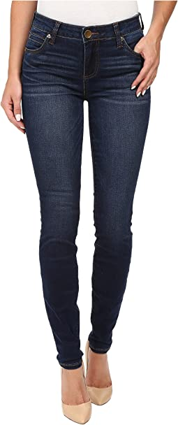 Mia Toothpick Five-Pocket Skinny Jeans in Awareness w/ Medium Base Wash