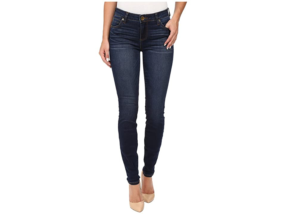 KUT from the Kloth Mia Toothpick Five-Pocket Skinny Jeans in Awareness w/ Medium Base Wash (Awareness/Medium Base Wash) Women
