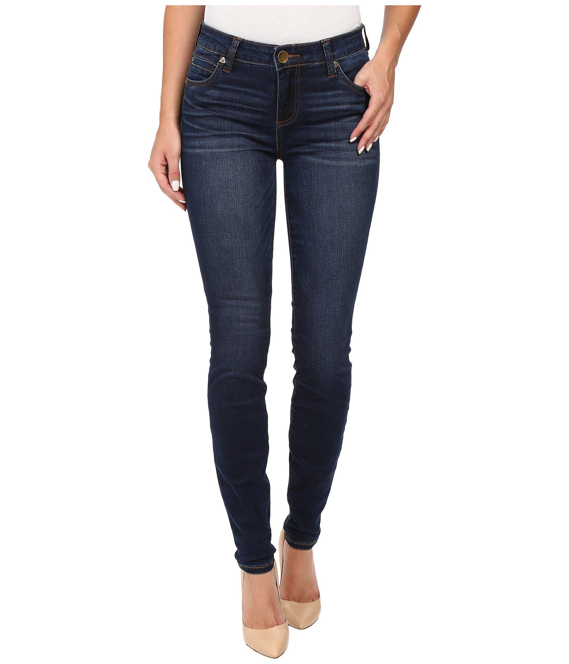 Mia Toothpick Five-Pocket Skinny Jeans in Awareness w/ Medium Base Wash