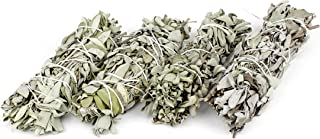 Heka Naturals Varillas de Incienso de Salvia para Mancha: 4 Palitos de Mancha de Salvia Blanca | Paquetes de Salvia Blanca para Mancha | 4 Piezas de 8-10 cm