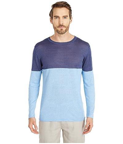 onia Kevin Crew Neck Sweater (Safari Sky) Men