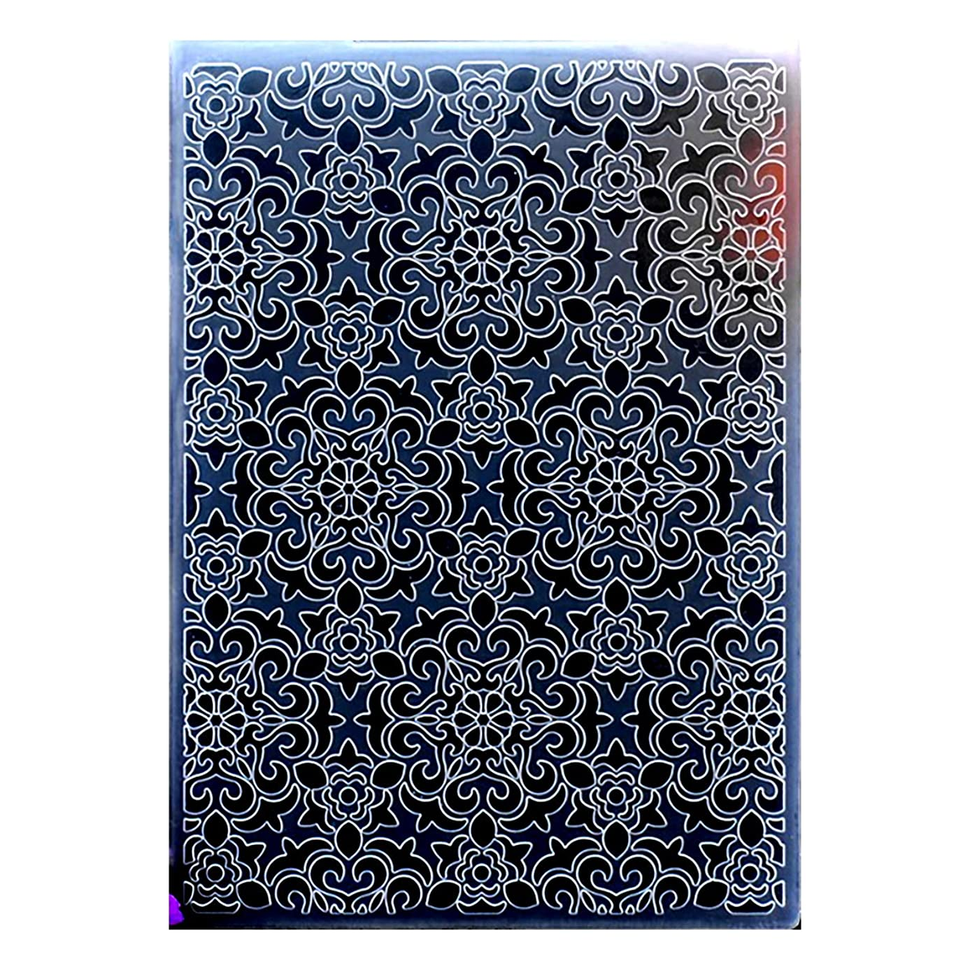 Kwan Crafts Flowers Plastic Embossing Folders for Card Making Scrapbooking and Other Paper Crafts, 12.5x17.7cm oxau1017436