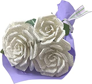 Book Paper Flower Bouquet from Pride and Prejudice