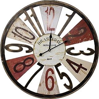 "Sorbus Large Decorative Wall Clock, 24"" Round Centurion, Large Arabic Numerals, Brasserie Text, Vintage Rustic Modern Farm..."