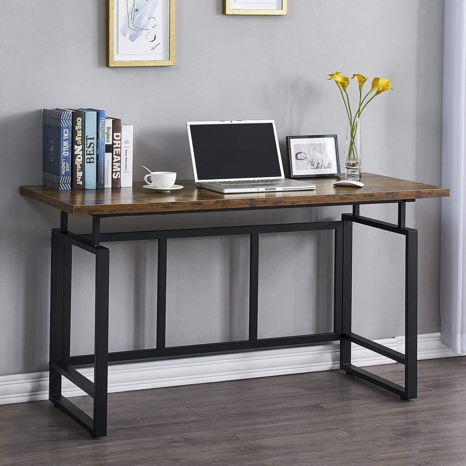 """Mneetrung Home Office Popular shop is the lowest price challenge Desk 55"""" Be super welcome Computer Stud Industrial Writing"""