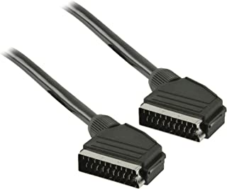 Nickel Plated 0.6 m Cable Length Goobay 11762 Scart Connection Cable 7 mm Diameter