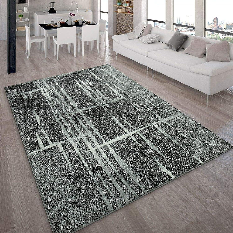 Paco Home Designer Designer Designer Teppich Modern Trendiger Kurzflor Teppich in Grau Schwarz Creme Meliert, Grösse 190x280 cm B00JHMOLWU 08229e