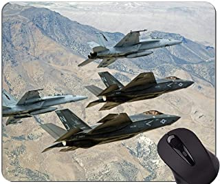 Best Gift Idea Mouse Pad,Flying F 35 fighter Non-Slip Rubber Base Mousepad
