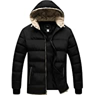 Men's Winter Thicken Jacket Warm Double Hooded Quilted Cotton Coat