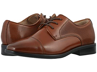 Florsheim Kids Postino Cap Toe Ox, Jr. (Toddler/Little Kid/Big Kid) (Cognac) Boy