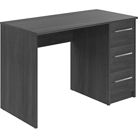 Marque Amazon -Movian - Bureau 3tiroirs Idro Modern, 56 x 110 x 73,5, Gris