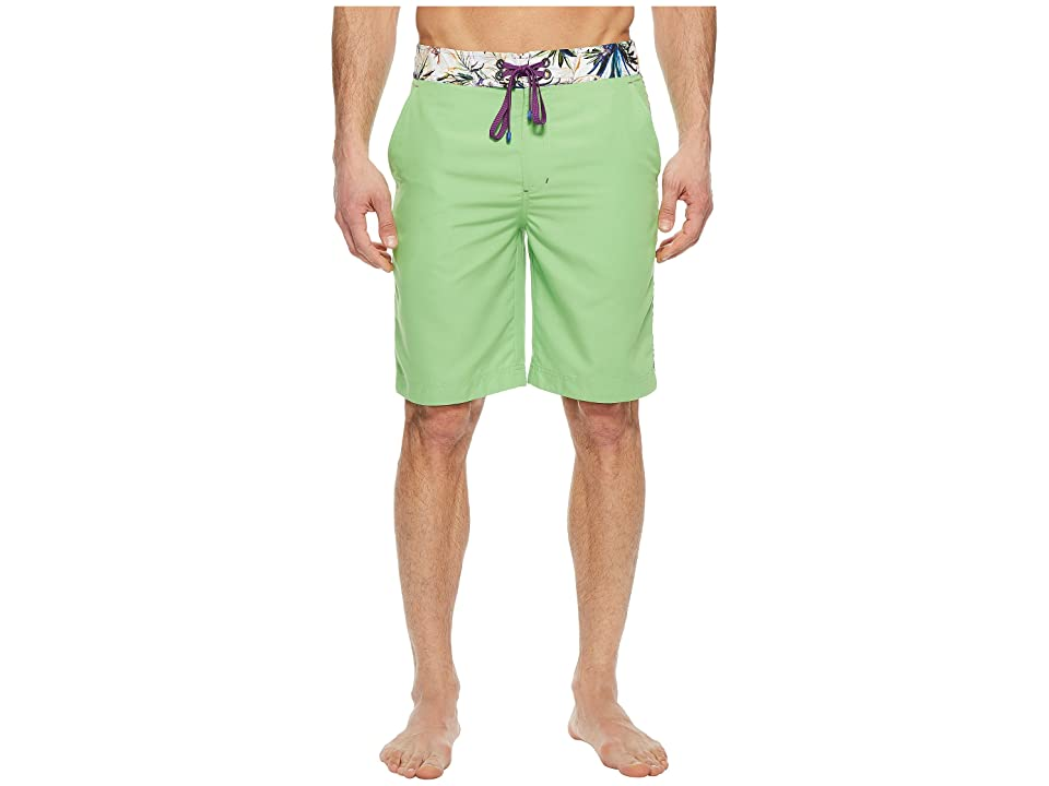 Robert Graham Dos Rios Woven Swim Boardshorts (Green) Men