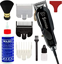 Wahl Professional 5-Star Series Senior Clipper #8545 – Great for Professional Stylists and Barbers – V9000 Electromagnetic Motor – Onyx -Aluminum metal bottom housing with Bonus Oil and Neck Duster