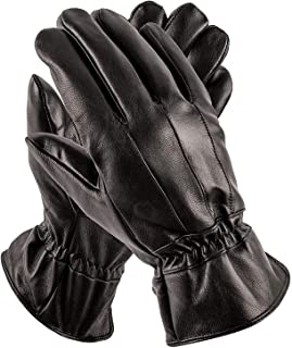 Mens Leather Gloves - Luxury Driving Gloves - Perfect as Winter Gloves