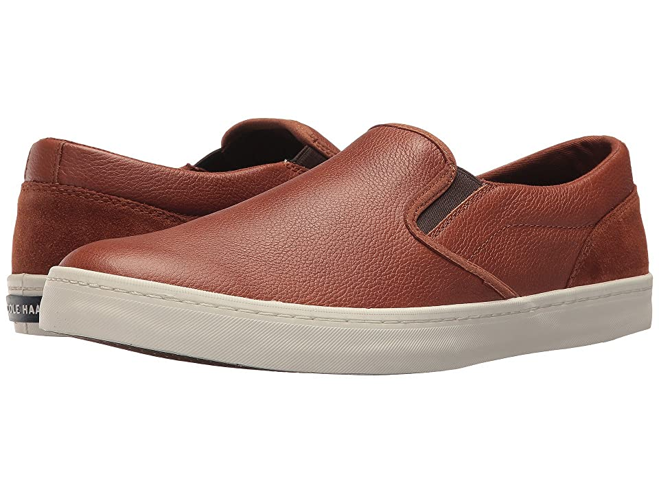 Cole Haan Nantucket Deck Slip-On (British Tan Leather/Suede) Men