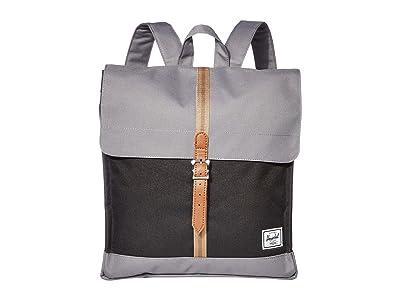 Herschel Supply Co. City Mid-Volume (Black/Grey/Pine Bark/Tan) Backpack Bags