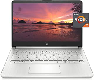 HP 14 Laptop, AMD Ryzen 5 5500U, 8 GB RAM, 256 GB SSD Storage, 14-inch Full HD Display, Windows 10 Home, Thin & Portable, ...