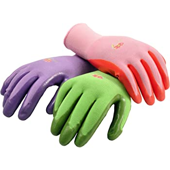 6 Pairs Women Gardening Gloves with Micro-Foam Coating - Garden Gloves Texture Grip - Working Gloves For Weeding, Digging, Raking and Pruning, Large, Assorted color