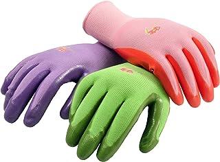 دستکش های مخصوص زنان G & F 15226L زنان ، دستکش کار با روکش نیتریل ، رنگ های متنوع. بسته بزرگ 6 جفت زنانه