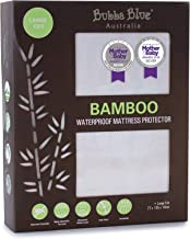 Bubba Blue Bamboo Mattress Large Cot Protector, White