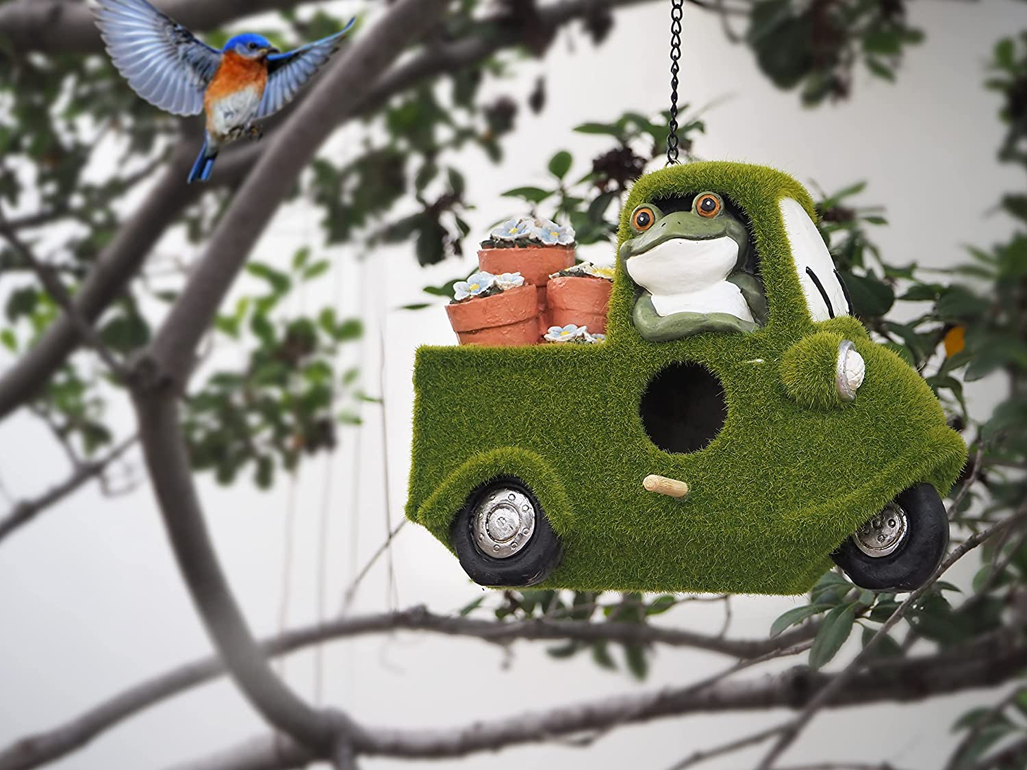 Bird House for Japan Maker New Outside Clearance Free shipping / New birdhouses Han Blue Houses