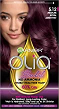 Garnier Olia Bold Ammonia Free Permanent Hair Color (Packaging May Vary), 5.12 Medium Royal Amethyst, Purple Hair Dye, 1 Count