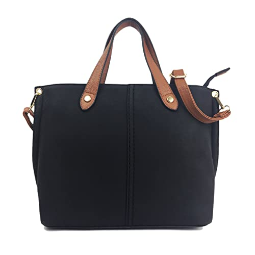 Mia Handbags for Women Beautiful Italian Fashion Styled Medium Size Shoulder Bag/Grab Bag in faux Semi Suede Nu Buck or NEWLY LISTED Soft & Supple Fine Grain PU Leather.