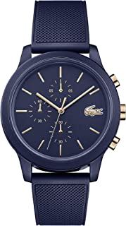 Lacoste Men's TR90 Quartz Watch with Rubber Strap, Blue, 21 (Model: 2011013)
