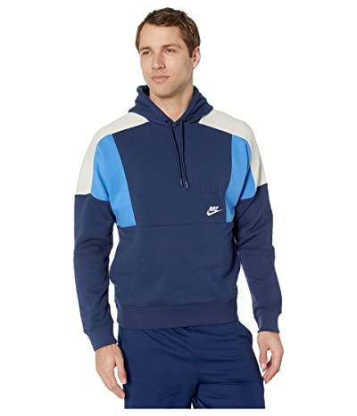 Nike NSW Hoodie Pullover Color Block (Midnight Navy/Pacific Blue/White) Men
