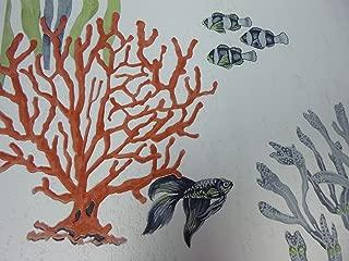 Lutece 11150901 - Papel pintado, diseño de peces tropicales