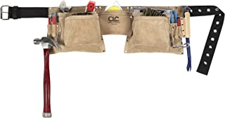 CLC Custom Leathercraft 527X Heavy Duty Top Grain Suede Construction Work Apron, 2 Hammer Loops, 12 Pocket